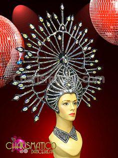 Charismatico Dancewear Store - CHARISMATICO Exotic Iridescent Chrystal Studded  Silver and Black Under Sea Headdress, $185.00 (http://www.charismatico-dancewear.com/products/CHARISMATICO-Exotic-Iridescent-Chrystal-Studded--Silver-and-Black-Under-Sea-Headdress.html)