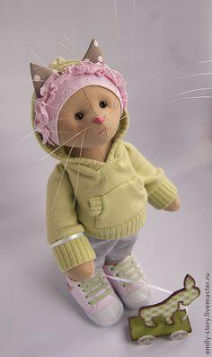 Toy animals, handmade.  Fair Masters - handmade cat Keira.  Handmade.