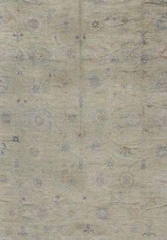 """Oushak Rug - EN-142387   Oushak - 12'3"""" x 16'0""""   Wool  - All Over - Pile, Origin Turkey, Reproduction"""