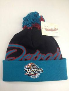8f48eb50d5f Mitchell   Ness cuffed pom Knit beanie National City NBA Detroit Pistons by  Mitchell   Ness.  22.50. Noa Beiter · Sports   Outdoors - Caps   Hats