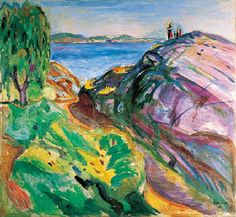 Edvard Munch / Sommer ved Kysten, Kragero / 1911 / oil on canvas ... I may have just hiked that..:)
