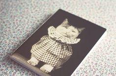 Vintage Dressed Cat photography notebook. by ModernismAndVintage