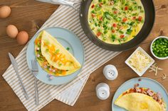 Omelette Three Ways Quick And Easy Breakfast, Quick Easy Meals, Omelette, Breakfast Recipes, Eggs, Foods, Dinner, Ethnic Recipes, Food Food