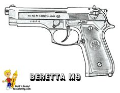 gun coloring pages 07