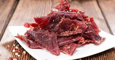 BBQ Style Beef Jerky, because every man needs their own beef jerky recipe. Step by step guide to making beef jerky in a dehydrator, plus a giveaway! Making Beef Jerky, Best Beef Jerky, Venison Jerky, Homemade Beef Jerky, Homemade Bbq, Brisket, Jerky Recipes, Beef Recipes, Low Sodium Beef Jerky Recipe
