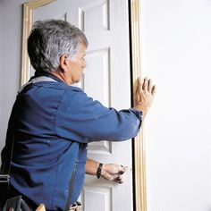 Tom Silva does a plumb job putting up a prehung door Discount Interior Doors, Interior Doors For Sale, Interior Walls, Prehung Interior Doors, Prehung Doors, Carpentry Skills, Phillips Screwdriver, Old Houses, Plumbing