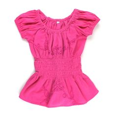 pink top, linen top, pink blouse for girls