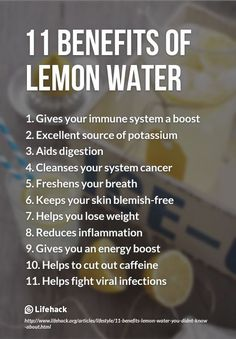 I love a little Lemon in warm water each morning
