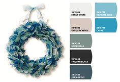 'beach glass' colors... (: