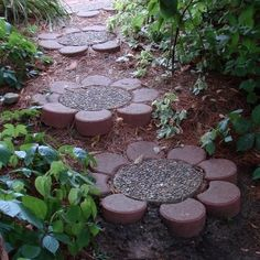 Paver flower path.