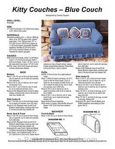 Album Archive Crochet Cat Toys, Crochet Home, Crochet Gifts, Easy Crochet, Crochet Baby, Free Crochet, Knit Crochet, Crochet Furniture, Cat Couch