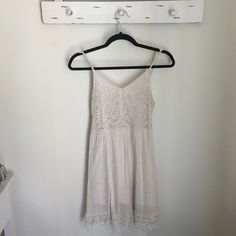White summer dress Small white laced dress Poetry Dresses Midi