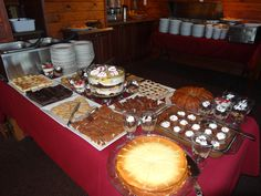 Dessert Table at the Sunday Breakfast Buffet