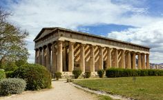 The temple of Hephastis is located in the ancient agora, Athens, Greece Architecture Board, Ancient Architecture, Ancient Greek Theatre, 3 Days Trip, Hdr Photography, Parthenon, Ancient Greece, Resort Spa, Trip Planning