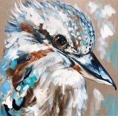 Kookaburra call-art print – Hallways and Drop Zone – frame Animal Art Prints, Animal Paintings, Modern Art Paintings, Colorful Paintings, Bird Painting Acrylic, Bird Artwork, Call Art, Guache, Australian Animals