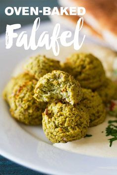 Oven-Baked Falafel   Plant-based  WFPB   Oil-free   Vegan   Gluten-free   http://www.eatwithinyourmeans.com/ via @eatwithinmeans
