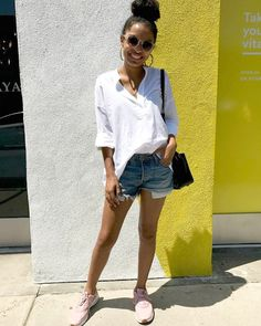 """Yara Shahidi took to Instagram to prove why everyone needs a pair of blush sneakers in their closet. You'll want to """"add to cart"""" after seeing this."""