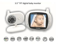3.5 inch Wireless Audio Video Baby Monitor Security Camera 2 Way Talk Nigh Vision IR LED Temperature Monitoring with Lullabies