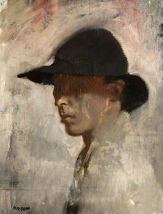 William Orpen - Self Portrait - Mede door aanbevelingen van John Singer Sargent… Figure Painting, Painting & Drawing, Painting People, Victoria Art, Self Portrait Art, Walker Art, Galerie D'art, Irish Art, John Singer Sargent