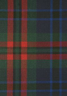 Cook Tartan Fabric Bold blue and green tartan with thick, striking red accent. Suitable for curtains, cushions and upholstery. Tartan Curtains, Tartan Fabric, Irish Tartan, Tartan Kilt, Sitting Room Decor, Scotland History, Tweed Run, Best Of British, Textiles