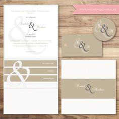 Hochzeitseinladung | Wedding invitation | Save the date | & Sign | Beige | Sand