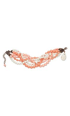 Multi-Strand Bracelet with SWAROVSKI ELEMENTS and Magnesite Gemstone Bead - Fire Mountain Gems and Beads