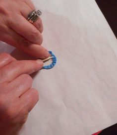 use sticky dots from the office supply store to make perfect circles for applique