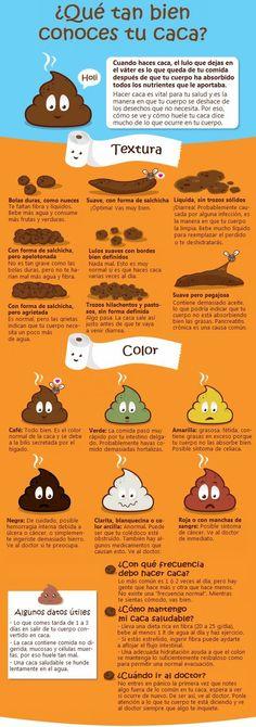 El color de la popó indica tu estado de salud