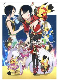 I soooooo wish this was made an anime! Pokemon Tv Show, Mega Pokemon, Pokemon Sun, Cute Pokemon, Pokemon Adventures Manga, Pokemon Stories, Sapphire Pokemon, Pokemon Collection, Pokemon People