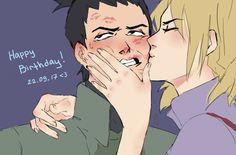 """docmcarter: """"Happy Birthday to my lovely boy """" Anime Naruto, Naruto Shikamaru Temari, Naruto Comic, Naruto And Hinata, Naruto Cute, Sakura And Sasuke, Naruto Shippuden Anime, Gaara, Manga Anime"""