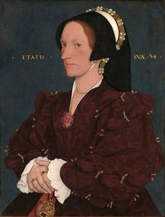 Margaret Wyatt, Sister of Sir Thomas Wyatt, favorite companion of Anne Boleyn, by Hans Holbein the Younger Anne Boleyn, Anne Of Cleves, Tudor History, British History, Adele, Renaissance, Hans Holbein The Younger, Tudor Era, Tudor Style