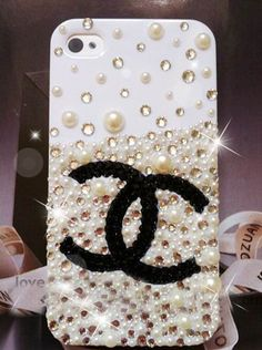 Handmade Bling iPhone Case, crystals mix pearl glitter cute iphone 5 case, custom samsung galaxy s3 case, iphone 4 4S case. iPhone 3gs case. $22.00, via Etsy.