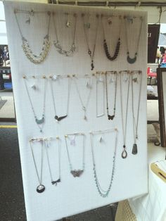 A beautiful jewelry display from a vendor at Broad Appetit, a food festival featuring the best restaurants in Richmond, VA.