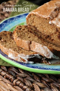 Cinnamon Sugar Banana Bread -this looks amazing!