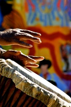 African Percussion Drum Hands- Nashville Tribal Musician