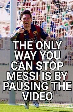 The best memes & jokes after Leo Messi lead Barcelona to victory in the Copa Del Rey final [Pictures] - Football (soccer) highlights, goals, videos & clips 101 Great Goals Messi Neymar Suarez, Cr7 Vs Messi, Messi Fans, Messi Soccer, Messi And Ronaldo, Cristiano Ronaldo, Funny Soccer Memes, Sports Memes, Soccer Humor