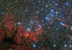 This star cluster - called NGC 3590 - isn't just pretty. It's also helping astronomers understand the Milky Way galaxy in which our sun and Earth reside. Telescope Images, Hubble Space Telescope, Albedo, Dark Energy, Carina Nebula, Star Images, Star Formation, Star Cluster, Deep Space