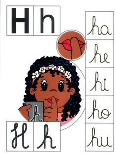 Letra H mayúscula, h minúscula.