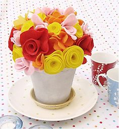 Como Fazer Arranjo Floral de Feltro | Passo a Passo – Recicla e Decora