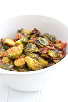 Oven Roasted Brussel Sprouts with Smokey Bacon | by Sonia! The Healthy Foodie #paleo