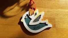 Christmas tree ornament, hand painted bird ornament, Christmas ornament, Christmas decor, Noel birdie by IndigoWanderlust on Etsy