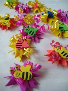 Mini bee bursts Bumble bee party by FunburstPartyandGift on Etsy