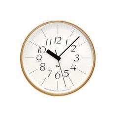 時計 壁掛け 掛け時計 掛時計 電波時計 【 送料無料 】。LEMNOS ( レムノス ) / Riki clock ( リキクロック)電波時計 細字 L (φ305mm)渡辺カ デザイン 時計 壁掛け 掛け時計 掛時計 【送料無料】
