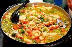 Receta de caldereta de marisco y brócoli