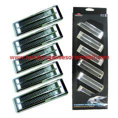 Air Flow OB-68.  1 Set : 6 pcs. Bahan : Plastik ABS. Fungsi : Hiasan Variasi pada Cap Mesin Mobil. Warna : Kombinasi hitam dan chrome, Sesuai Gambar. Pemasangan : Bisa Dipasang Sendiri, sudah tersedia lem, tinggal ditempel.  Harga : 72.000. Berat Packing : 1 kg.  Order Call / SMS / WA : 0896-6105-1299. BBM : 526FC5B2 (NEW) / 2B2E9B22.  #airflow   #variasimobil   #aksesorismobil   #eksterior