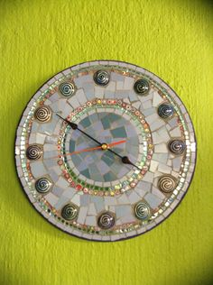Mosaic clock at Lisa B's art studio