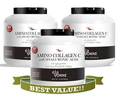 Top-Selling Collagen Supplements - On Sale! Clinically Proven Results with Wrinkles, Sagging Skin, Dry Skin, and Fine Lines. PURE Fish Peptide Collagen Source for Anti-Aging plus FREE added Vitamin C and Hyaluronic Acid for an Advanced Youth Building Formula. Unflavored, Sugar Free Collagen Supplement - Full Spectrum Beauty Amino Acids Puts Back What Your Skin, Hair, and Nails are Lacking - Complete 3 Month Program. Best Value for Real Results. Made in USA and Satisfaction Guaranteed…