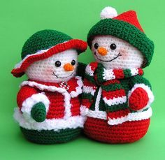 PDF Crochet Pattern Mr and Mrs WINTERS Snowmen (English only) Crochet Techniques different types of crochet Crochet Snowman, Crochet Christmas Ornaments, Christmas Crochet Patterns, Holiday Crochet, Crochet Patterns Amigurumi, Crochet Motif, Crochet Dolls, Crochet Baby, Free Crochet