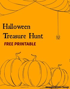 printable Halloween treasure hunt for kids - so fun!
