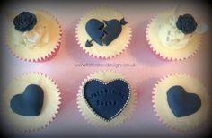 Anti valentines cupcakes!